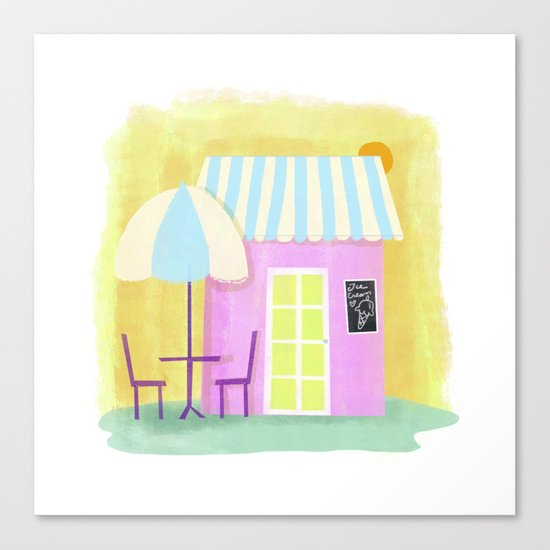 Ice Cream Shop Canvas Print