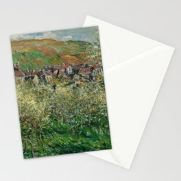 Plum Trees in Blossom Stationery Cards