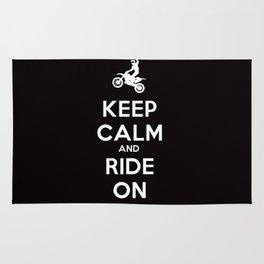 KEEP CALM AND RIDE ON - MOTOCROSS Rug