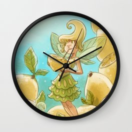 Goblins Drool, Fairies Rule - Lemon Loop Wall Clock