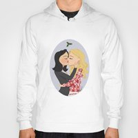 swan queen Hoodies featuring Christmas with Swan Queen!  by Yael's Colors