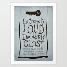 Extremely Loud & Incredibly Close - minimal poster Art Print