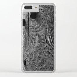 Covered Bridge Wooden Pegs Clear iPhone Case