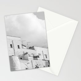 Walls of the medieval white village of Ostuni Stationery Cards