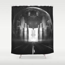 Moon City Shower Curtain