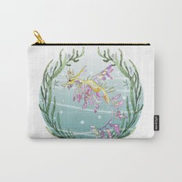Leafy Seadragon in Lilac Carry-All Pouch