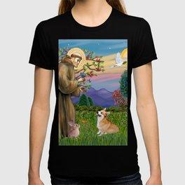 Saint Francis Welsh Corgi (Pembroke) T-shirt
