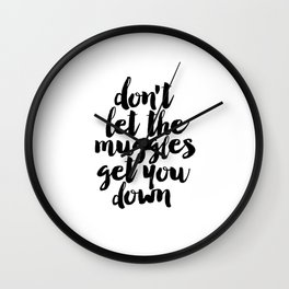 Don't Let The Muggles Get You Down,Yoda Quote,Star Wars Print,Star Wars Quote,Children Wall Decals Wall Clock