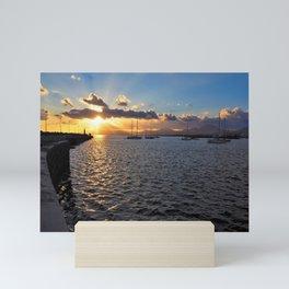 Sunset at Arrecife Mini Art Print