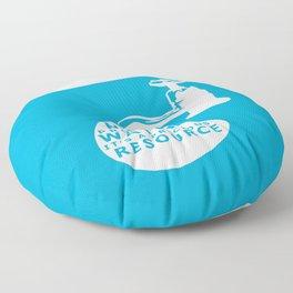 WATER CONSERVATION Floor Pillow