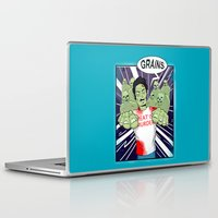 vegetarian Laptop & iPad Skins featuring Once a vegetarian... by OneAngryBear