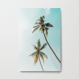 Palm Tree Beach Summer Metal Print