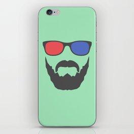 3D beard iPhone Skin