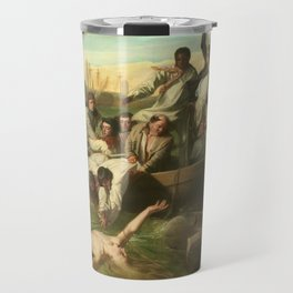 Classical Masterpiece 'Watson and the Shark' by John Singleton Copley Travel Mug
