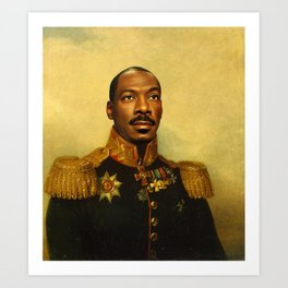 Eddie Murphy - replaceface Art Print