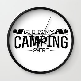 This Is My Camping Funny Gifts Wall Clock