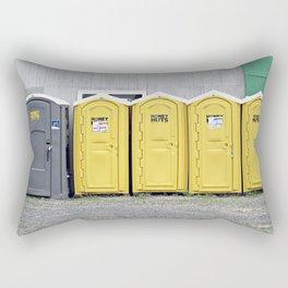 Odd Man Outhouse Rectangular Pillow