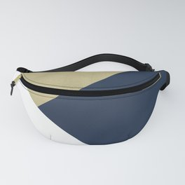 Gold meets Navy Blue & White Geometric #1 #minimal #decor #art #society6 Fanny Pack