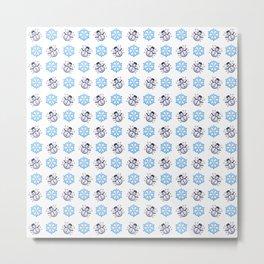 C1.3D Snowmoji Metal Print