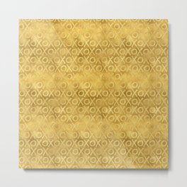 Gold Glam XOXO Metal Print