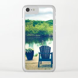 Cape Cod Summer View Clear iPhone Case