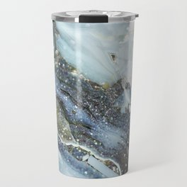 Gray Glamour Marble Travel Mug