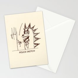 Aberdeen - dinosaur police sketch Stationery Cards