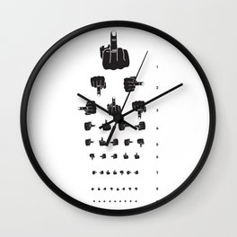 MIDDLE FINGER VISION TEST Wall Clock