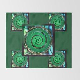 Paua Koru 1 Throw Blanket