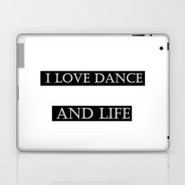 I love ... black Laptop & iPad Skin