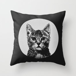 """""""The Year of the Cat"""" Throw Pillow"""
