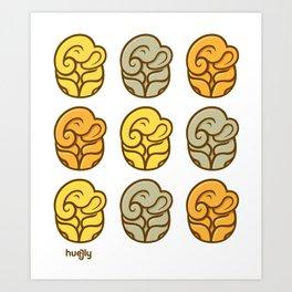 Huejly Serenely Elephants Art Print