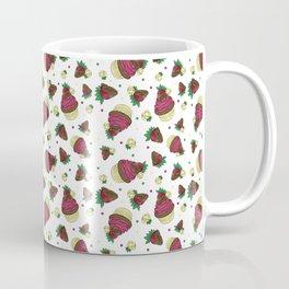 Strawberry Cupcake Pattern Coffee Mug