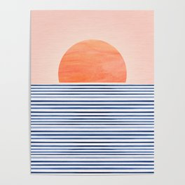 Summer Sunrise - Minimal Abstract Poster