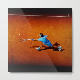 Rafael Nadal Tennis Forehand Return Metal Print