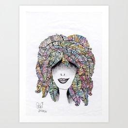 365 cabelos - feathers Art Print
