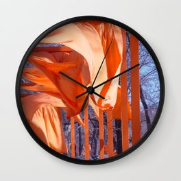 Gates Blowing In The Wind No. 1 Wall Clock