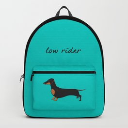 Black and Tan Dachshund Backpack Backpack