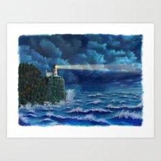 Split Rock Lighthouse, Duluth, MN Art Print