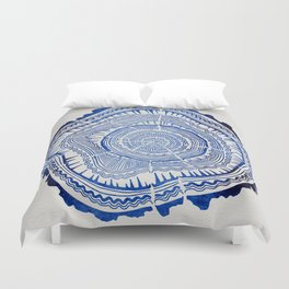 Growth Rings – 65 Years – Navy Duvet Cover