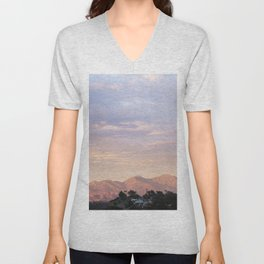 Sunset over Saddleback Mountain Unisex V-Neck