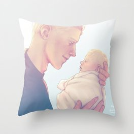 The day he was saved Throw Pillow
