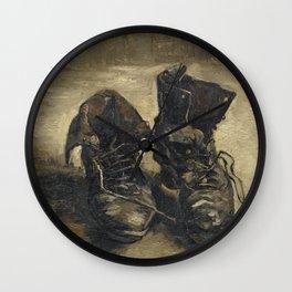 Vincent Van Gogh - A Pair of Shoes Wall Clock