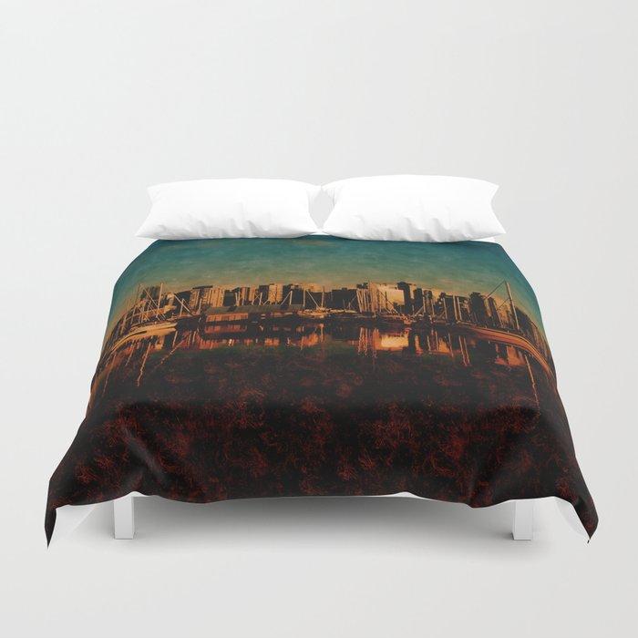 Painted City Duvet Cover