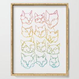 Contour Cats Serving Tray