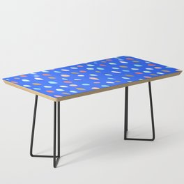 Blue Party Paint Dots Coffee Table
