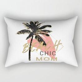 Beach Chic Mom Rectangular Pillow