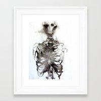 bones Framed Art Prints featuring Bones by danymarieart