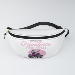 Real Grandmas Ride Motorcyles Funny Gift For Women Fanny Pack