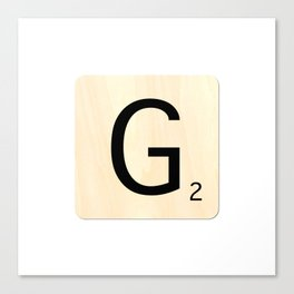 Scrabble G Canvas Print